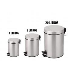 15369 - LIXEIRA 12 LT INOX COM PEDAL COD8082