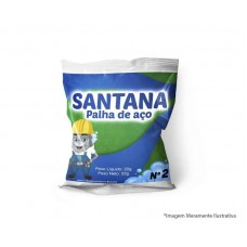16655 - PALHA DE AÇO 2 SANTANA PACOTE COM 20 PEÇAS