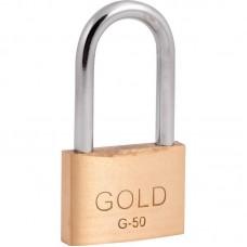 22-1117 - CADEADO 50 / 50 HASTE LONGA GOLD