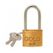 22-0436 - CADEADO 35 / 50 HASTE LONGA GOLD