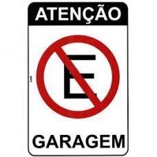 14766 - PLACA ATENÇÃO GARAGEM 20 X 30 2471