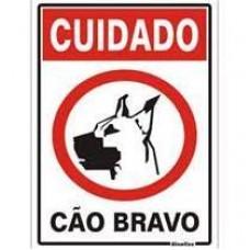 14770 - PLACA CUIDADO CAO BRAVO 20 X 30 2397