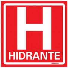 14727 - PLACA HIDRANTE 20 X 20 FOTO 3017