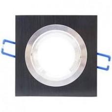 15513 - SPOT QUADRADO EMBUTIR PVC PRETO