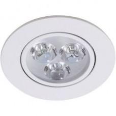 13581 - SPOT REDONDO MOVEL LED  3W 6400K NOGALED
